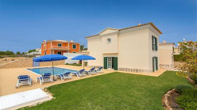Photo for Beatiful 3-bedroom villa with AC,  WiFi, lovely private swimming pool + gardens