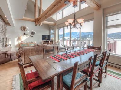 Photo for A light-filled deluxe condo with beautiful open living, vaulted ceilings, hot tub and golf course vi