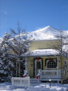 Willoughby Cottage seen from Main street Breckenridge vacation rental