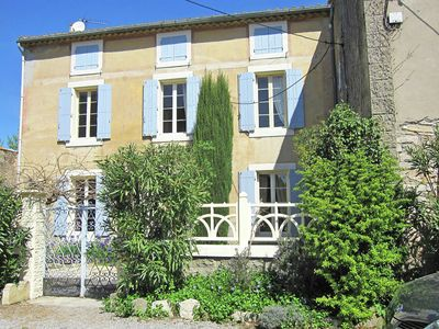Photo for Detached villa with private swimming pool in authentic village in southern France