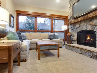 Photo for Recently remodeled condo close to the base area w/ shared hot tubs & firepit