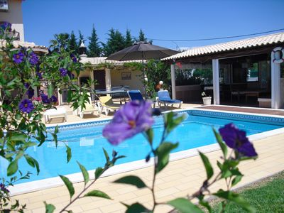Photo for Villa accommodation, swimming pool, barbecue, garden, swing, baby + ping-pong