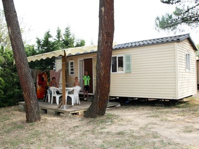 Photo for Mobilhome Thyme 2 --- Camping Pinède in Provence