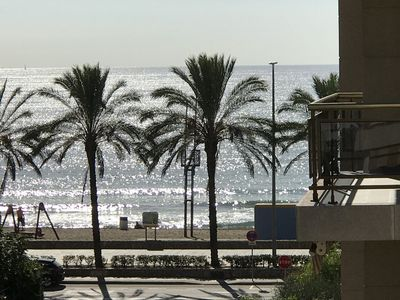 Photo for Beautiful 3 bedroom apartment with pool and sea views 50m from the beach