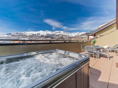 Photo for SKI-IN Penthouse Suite with PRIVATE HOT TUB on Balcony!