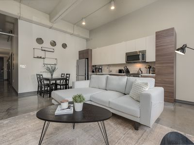 Photo for BRIGHT Modern 1BD+FREE Valet Parking & Amenities