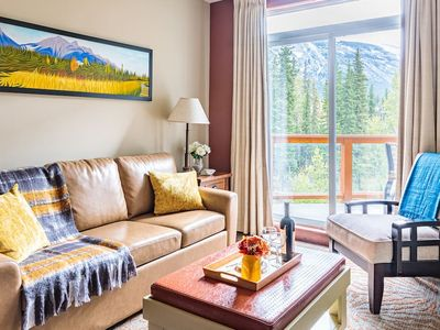 Photo for Quiet top floor condo with stunning mountain and pool views