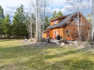 Photo for Cozy river front cabin with private hot tub perfect for a romantic getaway!