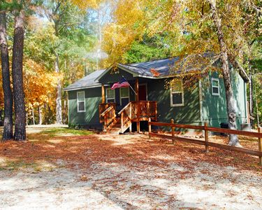 Welcome to your cabin in the woods. Of course, it has all the comforts of home.