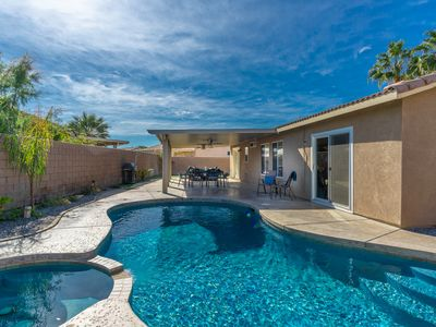 Photo for Spacious Desert Oasis with Private Pool & Spa - 2 miles to Polo Ground