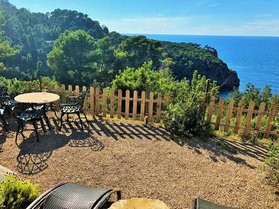 Photo for Semi-detached house, private garden with sea views