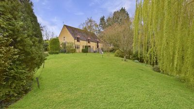 The view of the converted barn featuring Stepping Stones