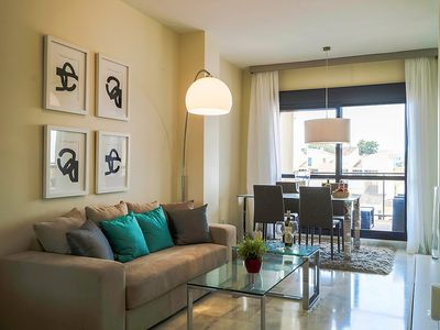 """Photo for Apartment a short walk away (104 m) from the """"Playa Bella"""" in Estepona with Lift, Parking, Internet, Washing machine (333029)"""