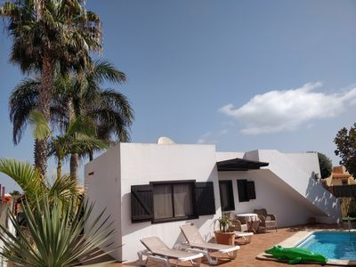 Photo for Villa with Private Heated Pool, near the Beach, Sea View Terrace, WIFI & SKY TV
