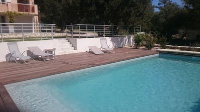 Photo for Large family home with pool near beaches and port Bonifacio 6-12 p