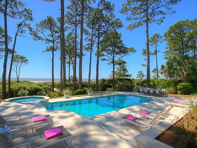 New to VRBO!  Oceanfront Luxury Home in Sea Pines w/ Private Pool & Spa