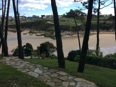 Photo for Located on a cliff with direct descent to the most beautiful beach in Asturias