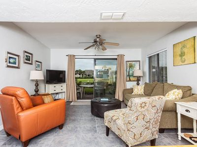 Enjoy HDTV and ocean breezes in the living room! - The easy chair is known to induce naps and the overall atmosphere is so relaxing at Colony Reef 18A! You'll love this ground-floor condo just steps from the beach!