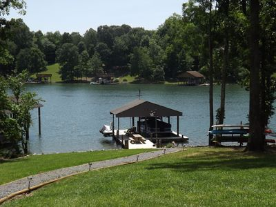 "Photo for ""Camp Run-a-Muk"" - FLAT LOT, DEEP WATER, Fire Pit, Kayaks, Ping Pong, and SUP's!"