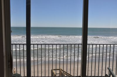 View out front sliding doors