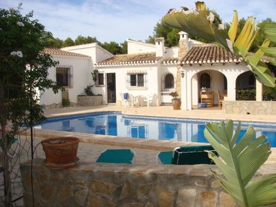 Photo for 3/4 Bedroom Moraira villa with pool, air con & free wifi plus UK TV & more