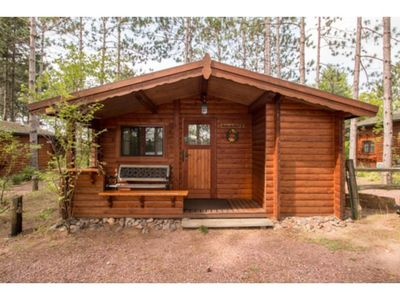Photo for Cozy lakeside authentic German log cabin