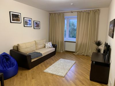 Photo for Entire 2-room Apartment with fully-equipped  kitchen (15 mins to the Kremlin)
