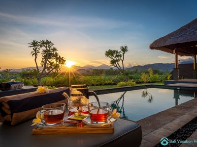Photo for DeLuxe Pool villa 1, one bedroom luxury villa with panoramic rice field view!