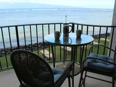Photo for Stunning Oceanfront and Island Views-Kahana Reef 218