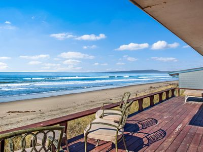 Photo for Waterfront home w/ shared tennis - steps away from the beach