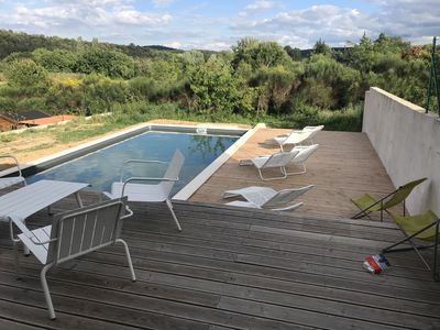 Photo for Villa 3 suns GOUDARGUES - Pool with views