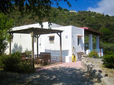 Photo for Casa Maria, typical Aeolian house with terrace and sea view