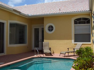Photo for Luxury Courtyard Villa with private heated pool