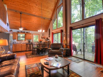 Photo for Beautiful 3 Bedroom 3 Bath Cabin with Hot Tub and Media/Game Room