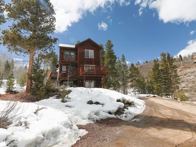 Photo for Roomy Rustic Mountain Retreat, Stunning Lake Views
