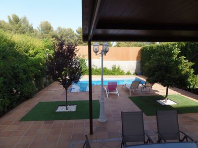 Photo for apartment Villa Dueñas with swimming pool at 440m from Bermejales Lake