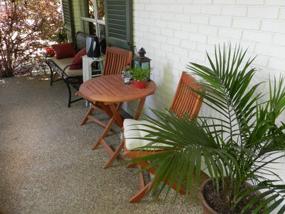 Front porch seating area- left.
