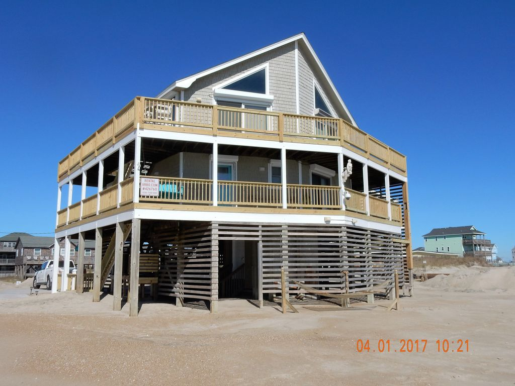 Oceanfront Outer Banks Rodanthe Pet Friendly 4br 3ba