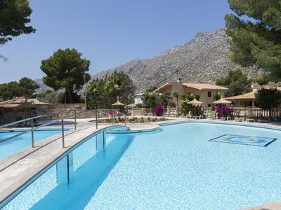 Photo for 6 bedroom Villa, sleeps 12 in Cala San Vicente with Pool, Air Con and WiFi