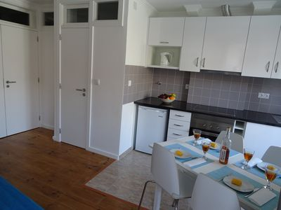 Kitchenette e sala de estar