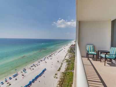 Photo for Sun-soaked oceanfront escape with shared pool, hot tub, and master jetted tub