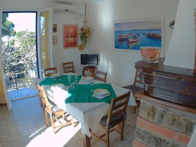 Photo for Comfortable apartment with garden at 1km from the sea.