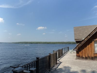 Looking Almost due North and entrance to the boathouse
