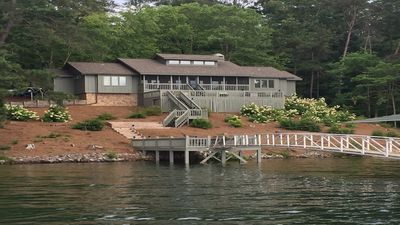 Photo for Remodeled home, in secluded cove, with year-round deep water.