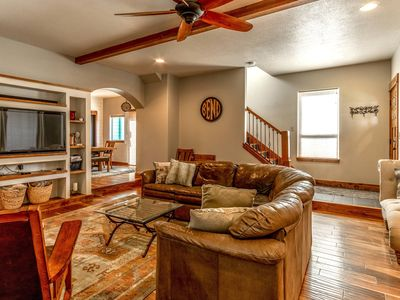 Photo for Fantastic location,  spacious and beautiful, perfect for groups, hot tub, dog ok