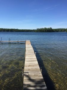 Photo for Beautiful Spider Lake Frontage, 2 Bedroom, 1 Bath, 15 Minutes to Traverse City