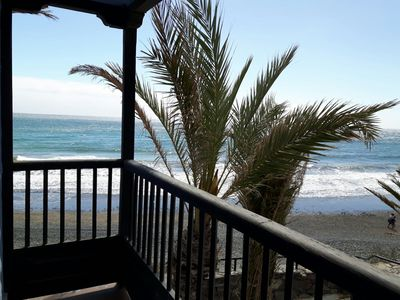 Photo for FIRST LINE ON THE BEACH, SEA VIEW AND PRIVATE GARDEN, SWIMMING POOL