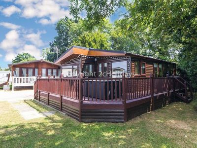 Photo for Luxury lodge for hire in Carlton Meres with part lake view ref 60027