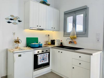 Photo for Beach studio own kitchen seconds from the beach