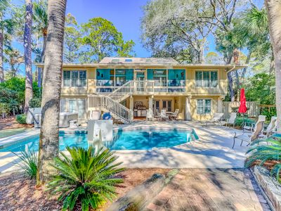 Photo for Exquisite  vacation getaway w/ a gourmet kitchen,  private pool, and hot tub